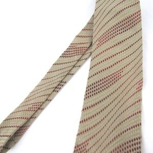 Dolce & Gabbana Accessories - DOLCE & GABBANA Tie Tan Red Dashed Stripes Texture